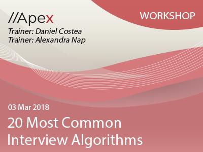 20 Most Common Interview Algorithms 03Mar2018 Workshop