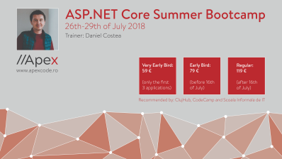 ASP.NET Core Summer Bootcamp 26-29Jul2018